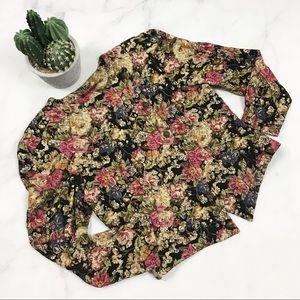 Vintage John Roberts Quilted Floral Jacket